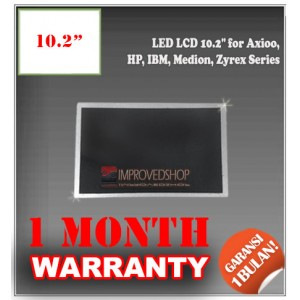 "LED LCD 10.2"" for Axioo, HP, IBM, Medion, Zyrex Series Panel Screen Notebook/Netbook/Laptop Original Parts New"