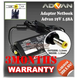 2.2 Adaptor Advan (Advance) Mini 19V 2.1A Series (Konektor 3.5 x 1.5mm)