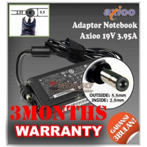 3.3 Adaptor Axioo 19V 3.95A Series (Konektor 5.5 x 2.5mm)
