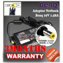 Adaptor Benq 19V 1.58A Series (Konektor 5.5 x 1.7mm)