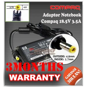 2.1 Adaptor Compaq 18.5V 3.5A Series (Konektor 4.8 x 1.7mm)