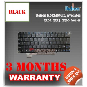 Keyboard Notebook/Netbook/Laptop Original Parts New for Relion K002409U1, Averatec 2200, 2225, 2260 Series