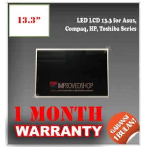 "LED LCD 13.3"" for Asus, Compaq, HP, Toshiba Series Panel Screen Notebook/Netbook/Laptop Original Parts New"