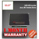 "LED LCD 13.3"" for Acer, HP, Toshiba Series Panel Screen Notebook/Netbook/Laptop Original Parts New"