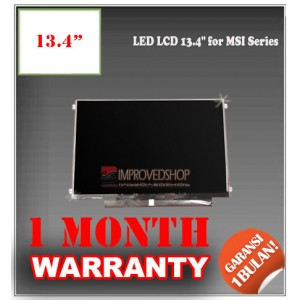 "LED LCD 13.4"" for MSI Series Panel Screen Notebook/Netbook/Laptop Original Parts New"