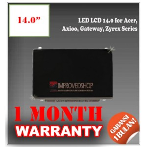 "LED LCD 14.0"" for Acer, Axioo, Gateway, Zyrex Series Panel Screen Notebook/Netbook/Laptop Original Parts New"