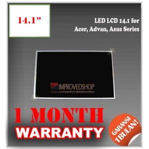"LED LCD 14.1"" for Acer, Advan, Asus Series Panel Screen Notebook/Netbook/Laptop Original Parts New"