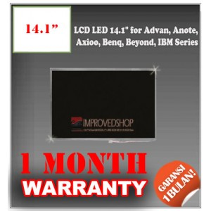 "LCD LED 14.1"" for Advan, Anote, Axioo, Benq, Beyond, IBM, Zyrex Series Panel Screen Notebook/Netbook/Laptop Original Parts New"