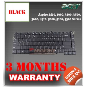 Keyboard Notebook/Netbook/Laptop Original Parts New for Acer Aspire 1410, 1600, 3100, 3500, 3600, 4910, 5000, 5100, 5300 Series