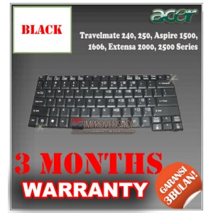 Keyboard Notebook/Netbook/Laptop Original Parts New for Acer Travelmate 240, 250, Aspire 1500, 1606, Extensa 2000, 2500 Series