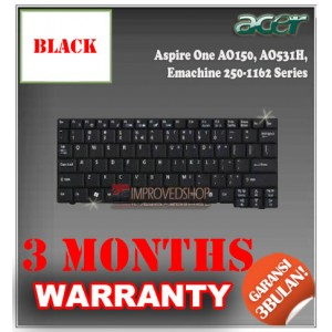 Keyboard Notebook/Netbook/Laptop Original Parts New for Acer Aspire One AO150, AO531H, Emachine 250-1162 Series