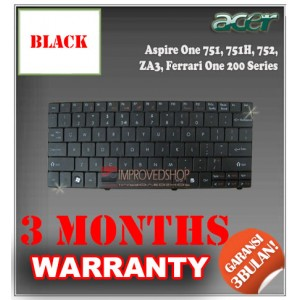 Keyboard Notebook/Netbook/Laptop Original Parts New for Acer Aspire One 751, 751H, 752, ZA3, Ferrari One 200 Series