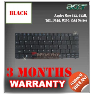 Keyboard Notebook/Netbook/Laptop Original Parts New for Acer Aspire One 532, 532H, 752, D255, D260, ZA5 Series