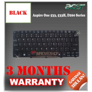 Keyboard Notebook/Netbook/Laptop Original Parts New for Acer Aspire One 533, 533H, D260 Series