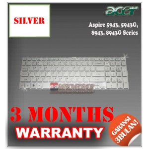 Keyboard Notebook/Netbook/Laptop Original Parts New for Acer Aspire 5943, 5943G, 8943, 8943G Series