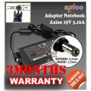 Adaptor Axioo 19V 3.16A Series (Konektor 5.5 x 2.5mm)