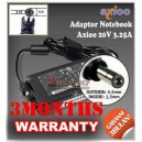 4.3 Adaptor Axioo 20V 3.25A Series (Konektor 5.5 x 2.5mm)