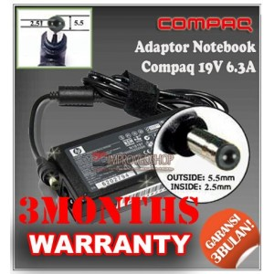 6.1 Adaptor Compaq 19V 6.3A Series (Konektor 5.5 x 2.5mm)