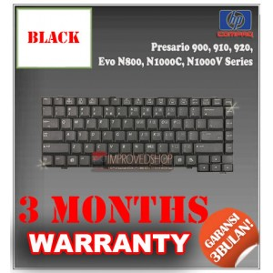 Keyboard Notebook/Netbook/Laptop Original Parts New for HP-Compaq Presario 900, 910, 920, Evo N800, N1000C, N1000V Series