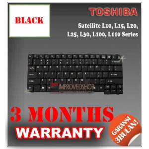 Keyboard Notebook/Netbook/Laptop Original Parts New for Toshiba Satellite L10, L15, L20, L25, L30,  L100, L110 Series