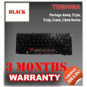 Keyboard Notebook/Netbook/Laptop Original Parts New for Toshiba Portege A605, T130, T135, U400, U505 Series