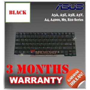 Keyboard Notebook/Netbook/Laptop Original Parts New for Asus A3A, A3E, A3H, A3V,  A4, A4000, M9, R20 Series