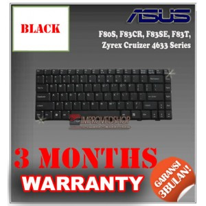 Keyboard Notebook/Netbook/Laptop Original Parts New for Asus F80S, F83CR, F83SE, F83T, Zyrex Cruizer 4633 Series