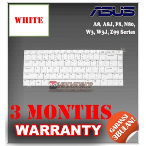 Keyboard Notebook/Netbook/Laptop Original Parts New for Asus A8, A8J, F8, N80, W3, W3J, Z99 Series
