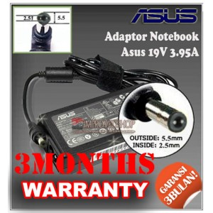 5.3 Adaptor ASUS 19V 3.95A Series (Konektor 5.5 x 2.5mm)
