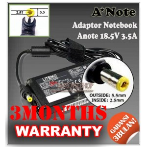 2.1 Adaptor Anote 18.5V 3.5A Series (Konektor 5.5 x 2.5mm)