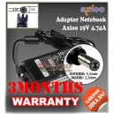 Adaptor Axioo 19V 4.74A Series (Konektor 5.5 x 2.5mm)