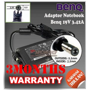 5.1 Adaptor Benq 19V 3.42A Series (Konektor 5.5 x 2.5mm)