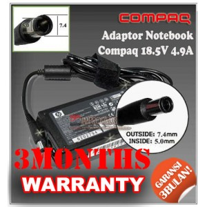 3.3 Adaptor Compaq 18.5V 4.9A Series (Konektor 7.4 x 5.0mm Bulat Jarum)