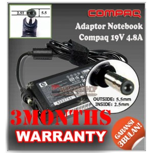 5.3 Adaptor Compaq 19V 4.8A Series (Konektor 4.8 x 1.7mm)
