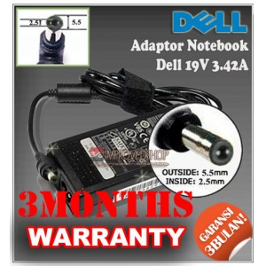 3.2 Adaptor Dell 19V 3.42A Series (Konektor 5.5 x 2.5 mm)