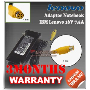 2.2 Adaptor IBM Lenovo 16V 7.5A Series (Konektor 4 Pin)