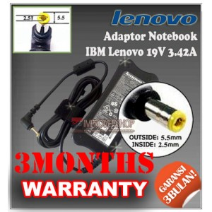 3.1 Adaptor IBM Lenovo 19V 3.42A Series (Konektor 5.5 x 2.5mm)