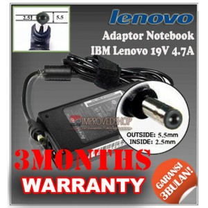 4.2 Adaptor IBM Lenovo 19V 4.7A Series (Konektor 5.5 x 2.5mm)
