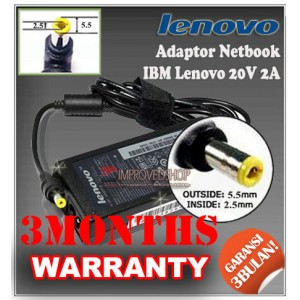 5.3 Adaptor IBM Lenovo 20V 2A Series (Konektor 5.5 x 2.5mm)