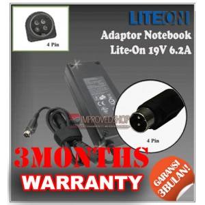 4.3 Adaptor Lite-On 19V 6.2A Series (Konektor 4 Pin)