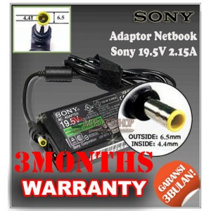 4.2 Adaptor Sony 19.5V 2.15A/2A Series (Konektor 6.5 x 4.4mm)