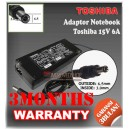 Adaptor Toshiba 15V 6A Series (Konektor 6.5 x 3.0mm)