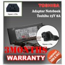 Adaptor Toshiba 15V 8A Series (Konektor Square 4 Pin)