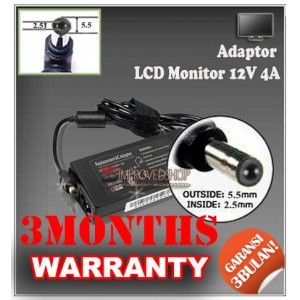 5.1 Adaptor LCD Monitor 12V 4A Series (Konektor 5.5 x 2.5mm)