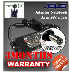 6.1 Adaptor ASUS 19V 4.74A Series (Konektor 5.5 x 2.5mm)