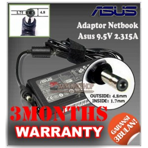 1.1 Adaptor ASUS 9.5V 2.315A Series (Konektor 4.8 x 1.7mm)
