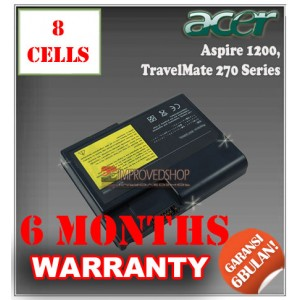 Baterai Acer Aspire 1200, TravelMate 270, 530, 550 Series