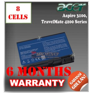 Baterai Acer Aspire 3100, 3650, 5100, TravelMate 2490, 3900, 4200 Series