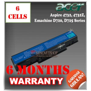 Baterai Acer Aspire 4732, 4732Z, 5732, NV52, Emachine D720, D725, D525, D625, E525, E627, Gateway NV52 Series