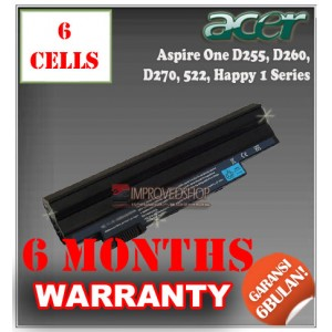 Baterai Acer Aspire One D255, D260, D270, E100, 522, Gateway LT23, LT2304 Series